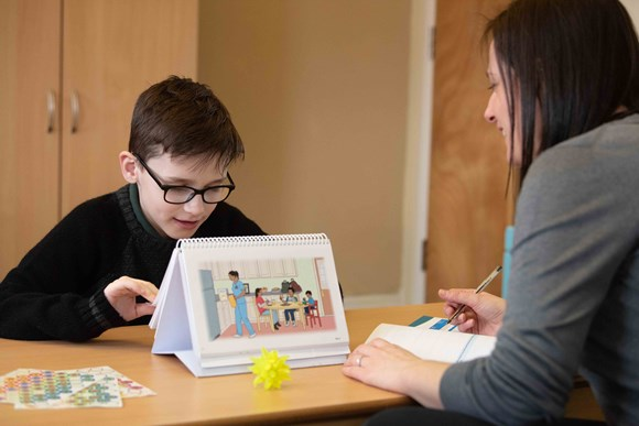 Child undergoing speech and language assessment at I CAN's Bill Harrison Assessment Centre